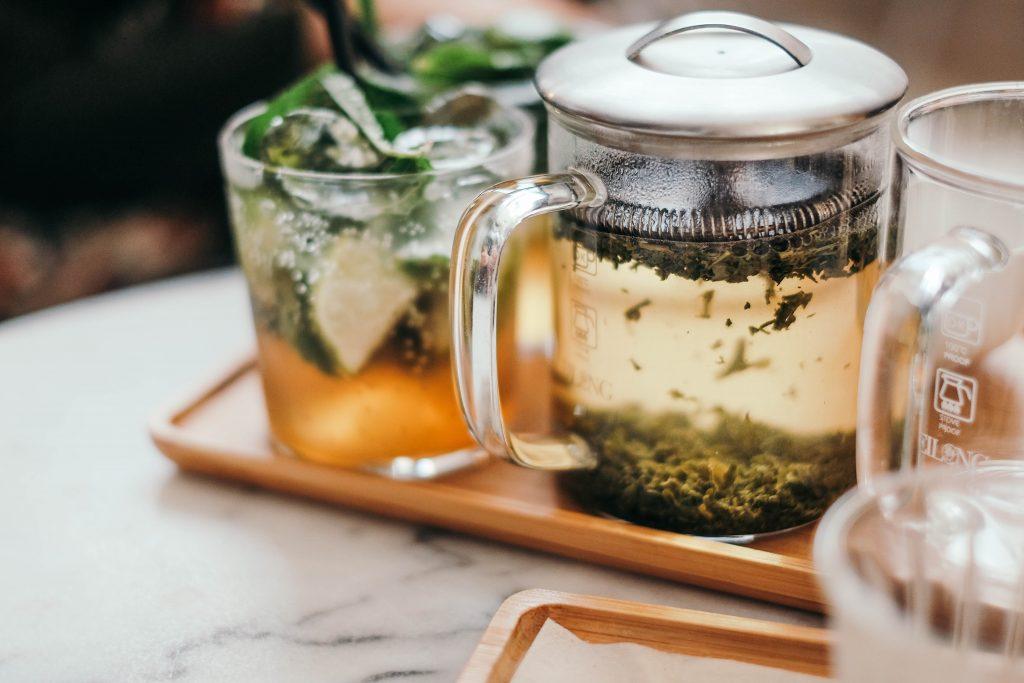 Infusion thé vert citron menthe