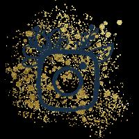icone instagram creakoa paillettes dorées