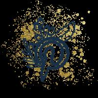 icone pinterest creakoa paillettes dorées